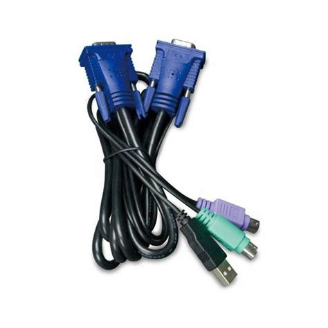kvm cable ps2 to usb planet 3m usb kvm cable with built in ps2 to usb converter
