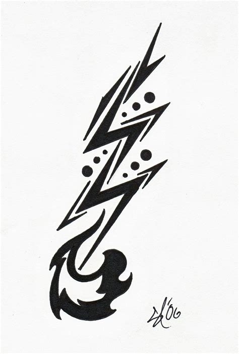 tribal lightning tattoo best 25 lightning bolt ideas on