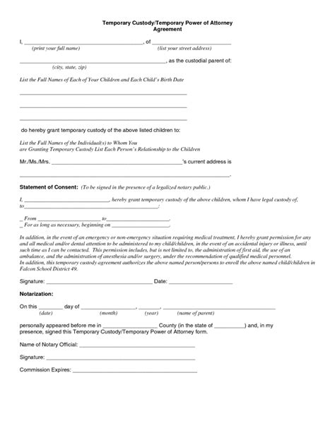 authorization letter for child custody temporary guardianship letter canada docoments ojazlink