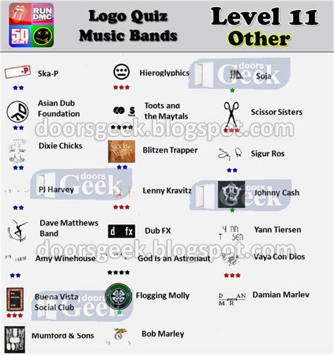 logo quiz cheats level 11 logo quiz bands level 11 classic rock doors