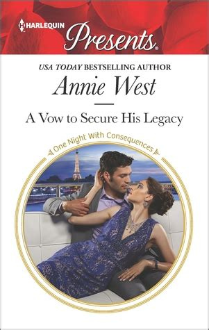 a to secure his vengeance harlequin presents books a vow to secure his legacy by west amanda writes