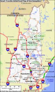 Nh State Map by Map Of New Hampshire
