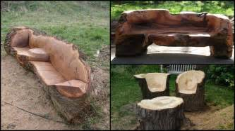 chairs made from trees unique furniture made from tree stumps and logs