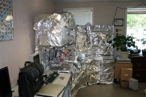 Office Prank Ideas Desk Office Prank Foiling A Desk Jp Cotton More