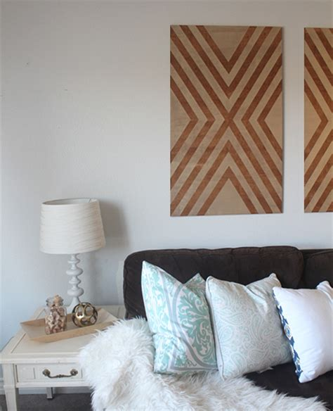 home decor co za home dzine home decor make your own chevron wall art