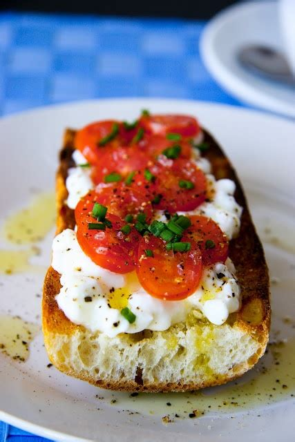 Cottage Cheese And Tomato by Cottage Cheese And Tomato On Baguette Recipe Food