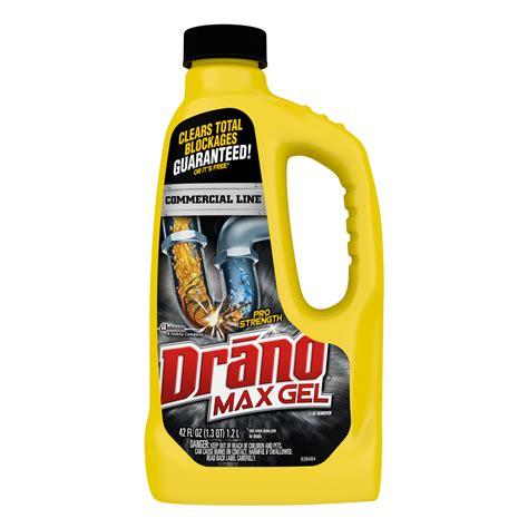 Drano Plumbing drano max gel clog remover 42 ounces commercial line ebay