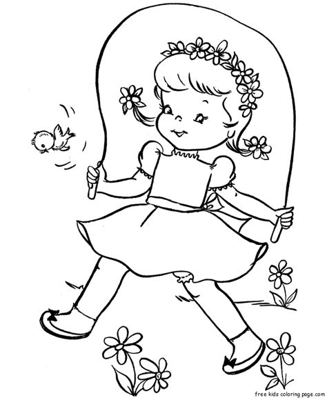 print out a coloring book print out jumping rope coloring page