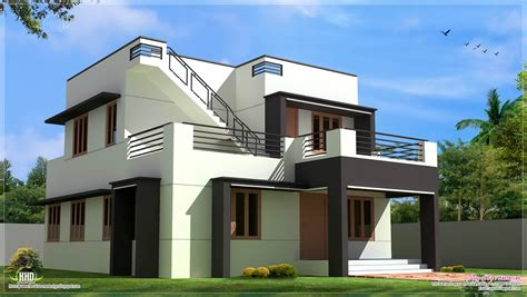 modern houses with plans modern house design in 1700 sq feet kerala home design and floor plans