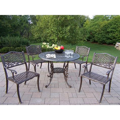 oakland living mississippi patio 5 piece dining set 2011