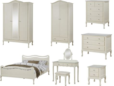 loire shabby chic ivory bedroom furniture wardrobe chest bed dressing table ebay