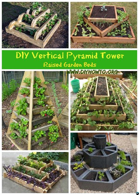 vertical planter diy diy vertical pyramid tower planters and raised garden beds