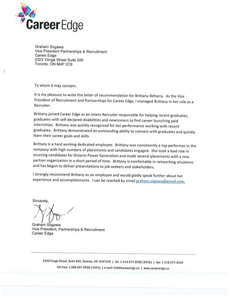Recommendation Letter For Ceo Ceo Recruitment Recommendation Letter