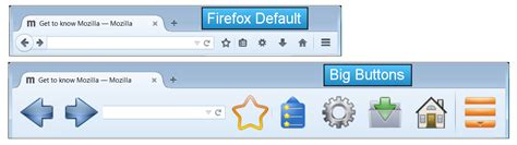 Firefox Themes Buttons | big buttons the no squint nav bar buttons for firefox