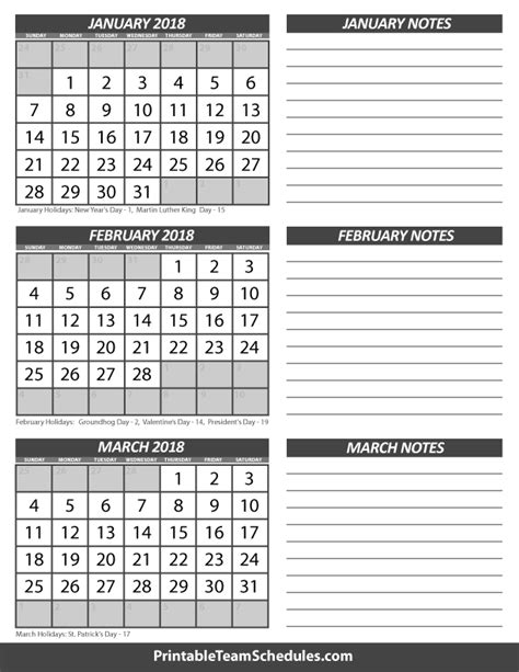 Calendar 2018 February And March January February March Calendar 2018