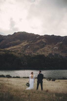 intimate queenstown lake wedding polka dot bride