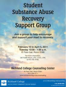 substance abuse support group flyer ccm projects