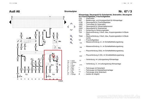 Audi A6 C4 Uhr Einstellen by Stromlaufplan Klima Audi A6 4b 67 3 Gebl 228 Se L 228 Uft Nicht