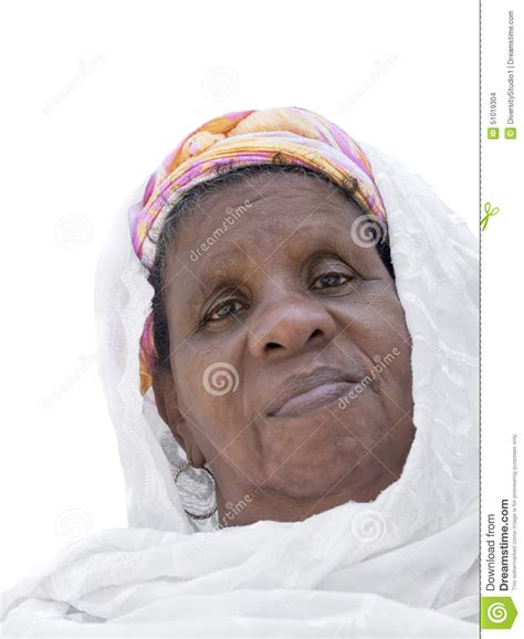 66 year year old woman portrait of an african woman sixty years old isolated