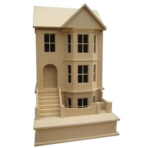 1 24 scale dolls houses bay view house unpainted kit 1 24 scale bdh0124