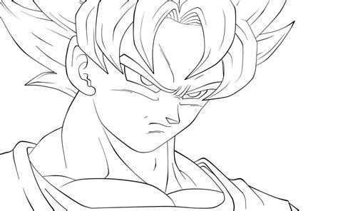 imagenes de goku en blanco y negro goku coloring pages marbal