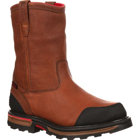 steel toe work boots wellington steel toe work boot rocky boot elements rkyk078