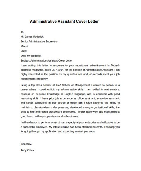 cover letter admissions assistant academic editing