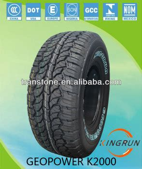 white letter tire 31 10 kingrun brand geopower k2000 suv car tire radial with white letter 31 10 50r15 with white