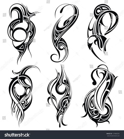 tribal tattoo vectorial tribal stock vector illustration 127800335