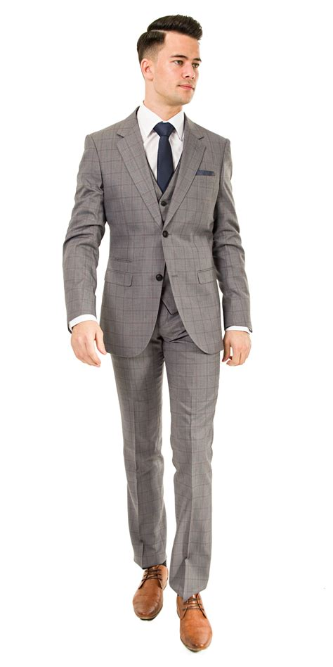 light grey slim fit suit debs suits and black tie