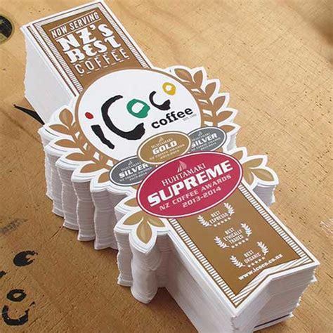Sticker Coffee Shop icoco coffee shop stickers custom sticker printers auckland new zealand
