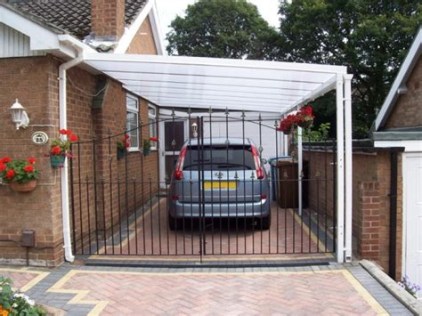 Car Port Canopies by Driveway Carports Polycarbonate Glass Canopy Roof