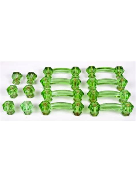 glass kitchen cabinet handles depression era green glass kitchen cabinet pulls drawer