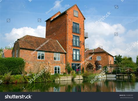 mill house properties tall mill house converted riverside property stock photo 216585781 shutterstock