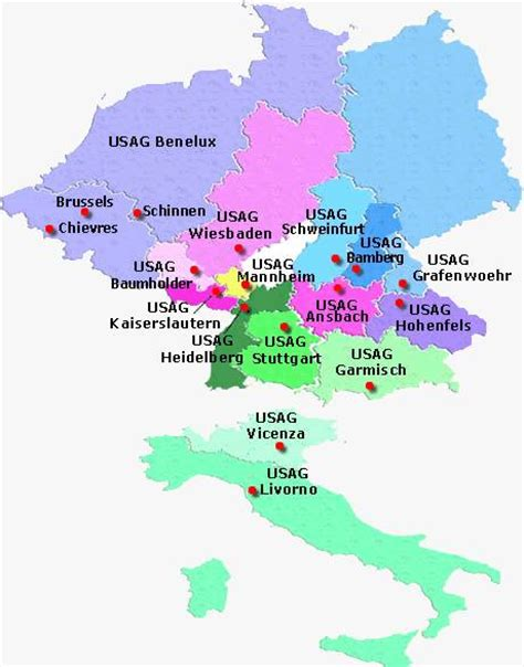 map us bases in germany us facilities germany