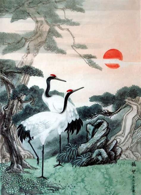 crane painting crane painting 4700017 60cm x 85cm 23 x 33
