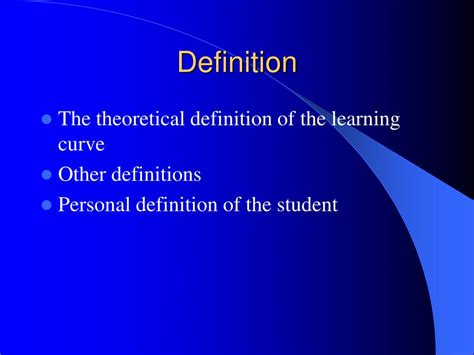 powerpoint tutorial definition ppt the learning curve powerpoint presentation id 238384