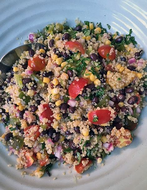 mexican quinoa salad with black beans and shape magazine mexican quinoa salad with black beans corn tomatoes