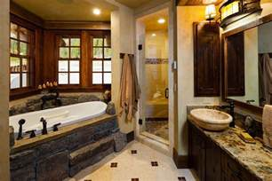 cabin bathroom designs west inspired luxury rustic log cabin in big sky