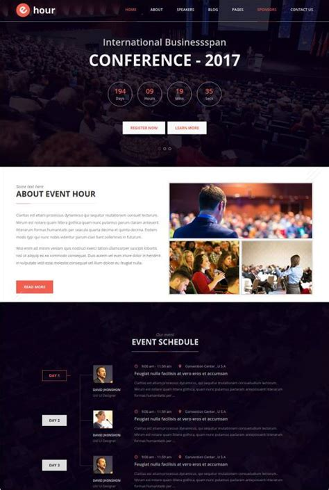 33 Event Planning Website Themes Templates Free Premium Templates Event Website Template