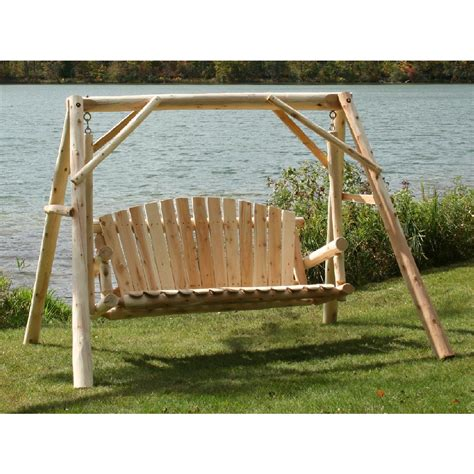 Patio Swing With Frame Lakeland Mills 174 5 A Frame Yard Swing 134201 Patio