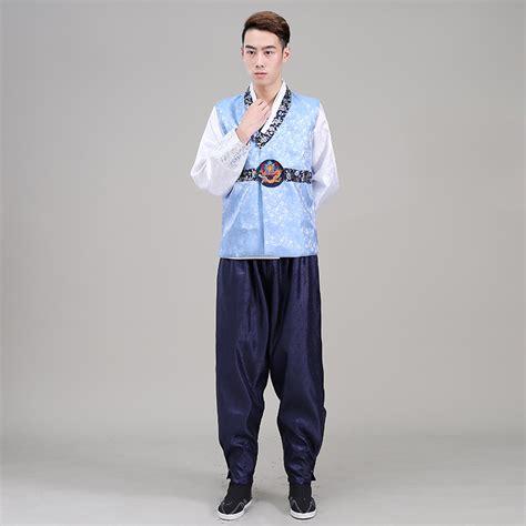 Korean Vest Dress One Set 2016 new hanbok costume top pant vest 3 pcs korean