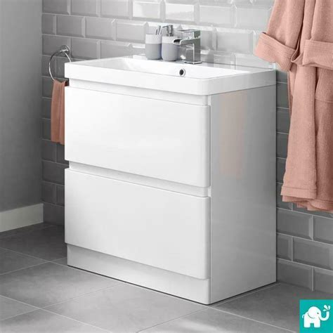 800 Vanity Unit by 800 X 860mm Modern White Bathroom Vanity Unit