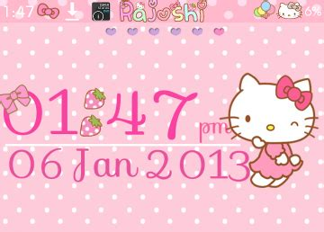 uccw hello kitty themes pretty droid themes hello kitty ride clock uccw