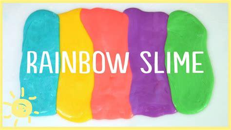 diy    slime  borax rainbow slime youtube