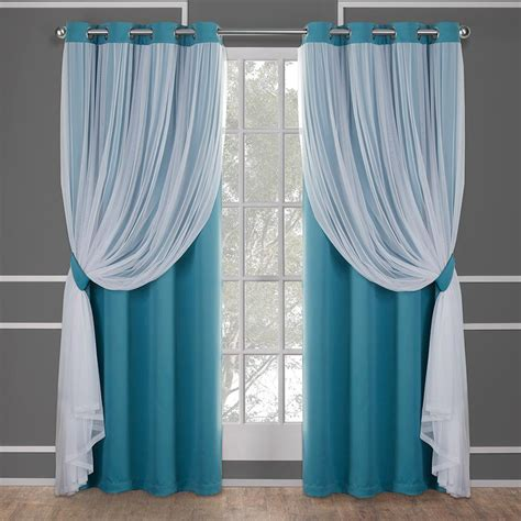 Grommet Top Curtains Turquoise Grommet Top Curtains Soozone