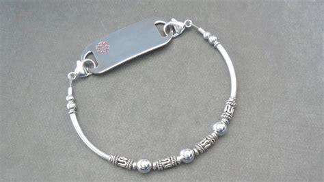 Handmade Alert Bracelets - handmade id bracelet medic alert bracelet sterling