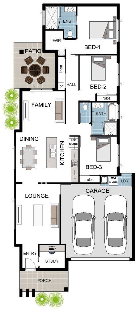 grady homes house designs suited  narrow blocks