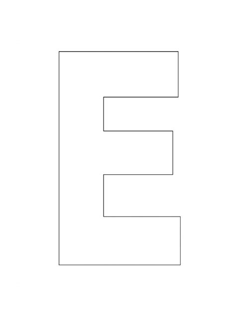 printable alphabet letter e alphabet letter e template for kids preschool