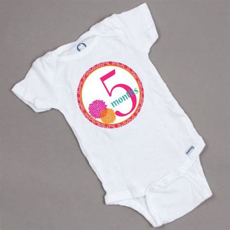 free printable iron on transfers for onesies iron on baby girl monthly onesie heat transfers bright